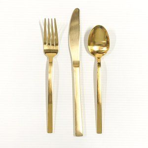 West Elm Gold Flatware - 3 pc